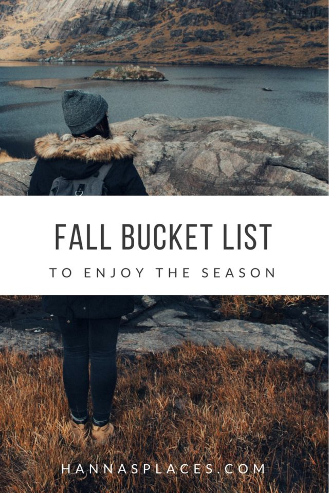 Fall Bucket List to enjoy the season