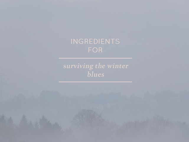 Ingredients for...surviving the winter blues | Hanna's Places