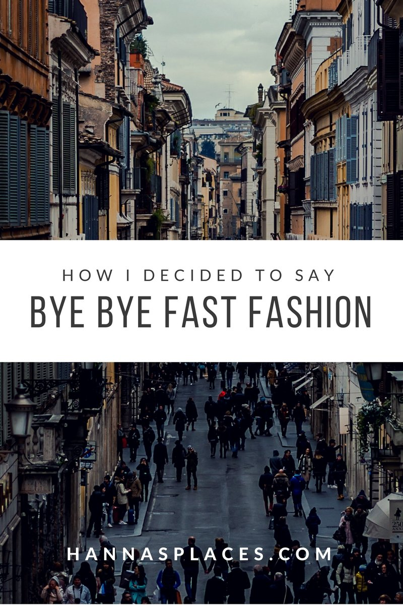 Bye bye fast fashion - Say goodbye to the high street!