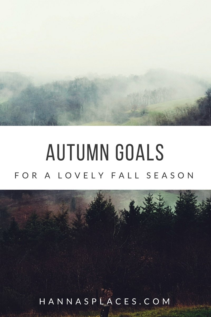 Autumn goals for a beautiful fall season