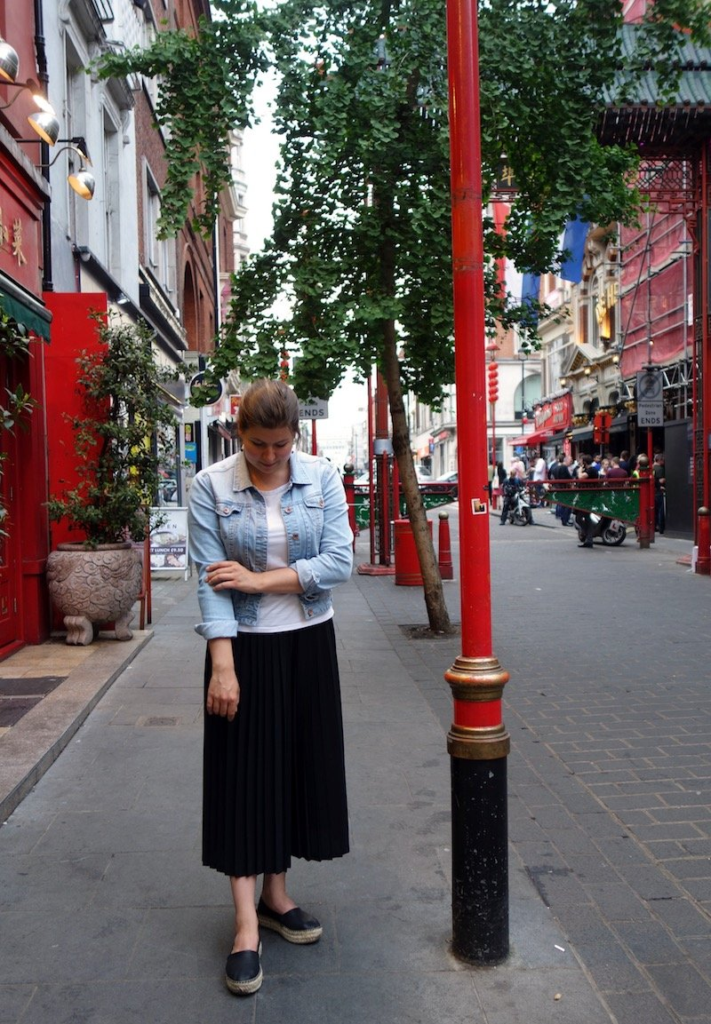 Wearing my culotte in Chinatown - Outfit Post