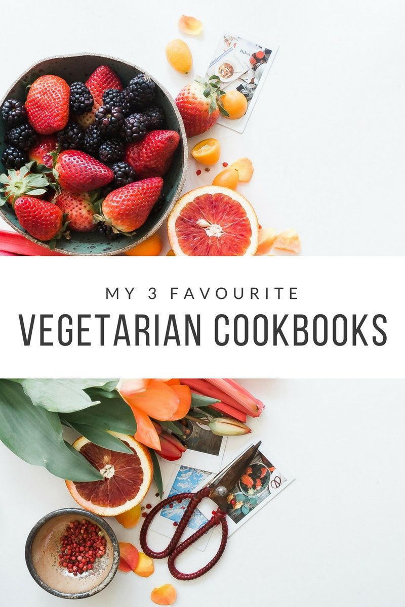 My 3 favourite vegetarian cookbooks